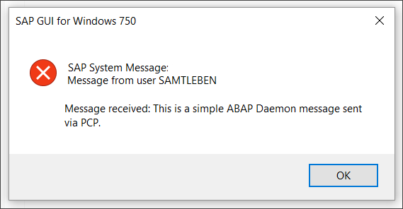 Popup message from an ABAP Daemon via ON_MESSAGE
