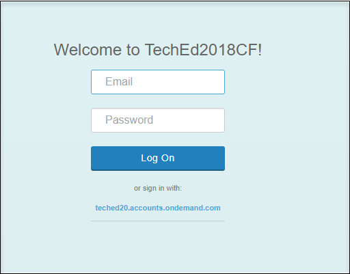 Login to SAP Fiori Launchpad