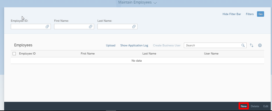 Create a new employee