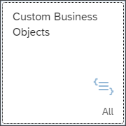 Custom Business Objects application tile