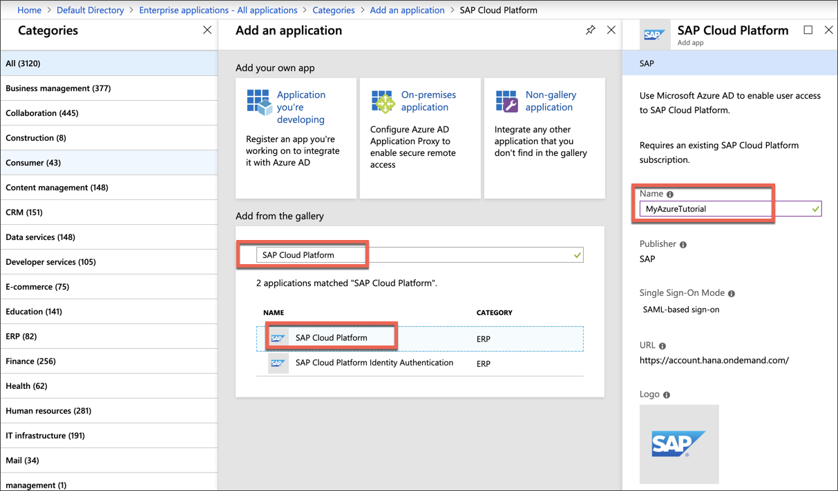 create new enterprise application