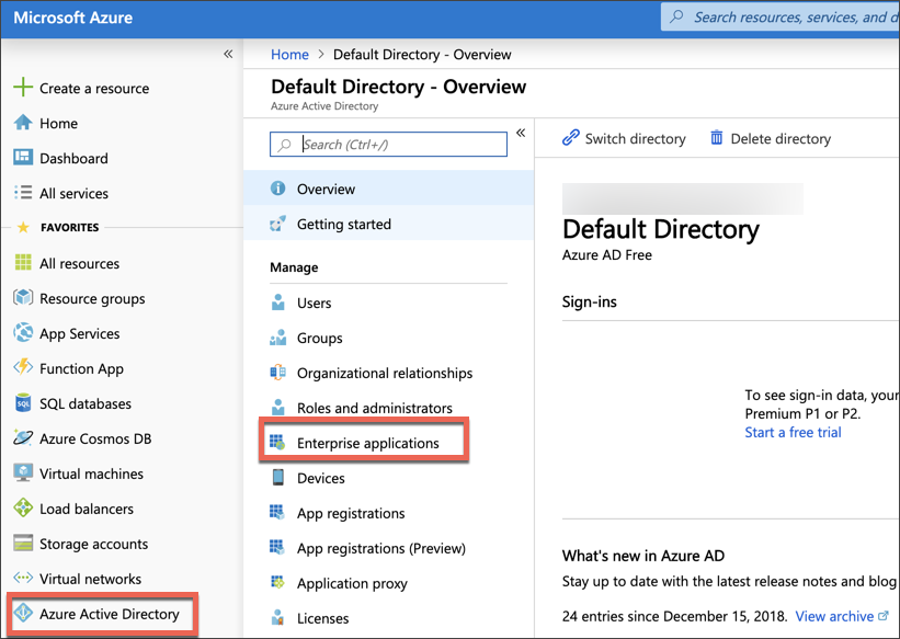 Azure AD enterprise application