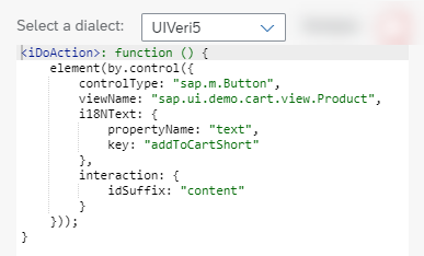 Code Snippet for Button