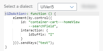 Code Snippet for Search Field
