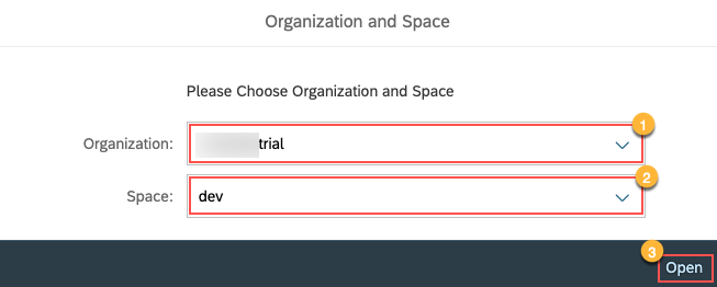 Select Org & Space for CPMS Cockpit
