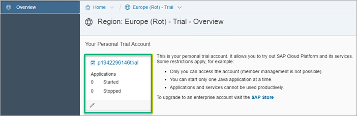 Open trial account