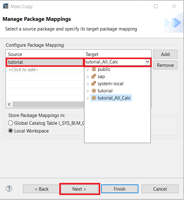 Configure Package Mappings