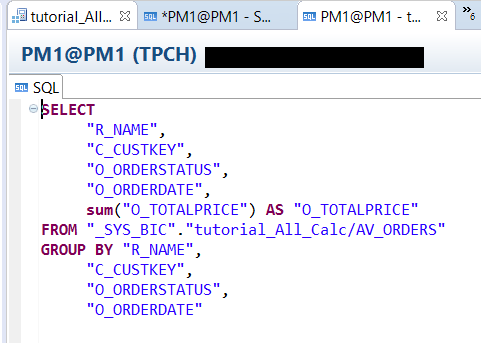 Result of select sql