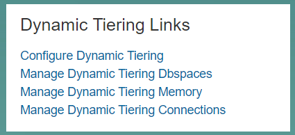 Dynamic Tiering Links