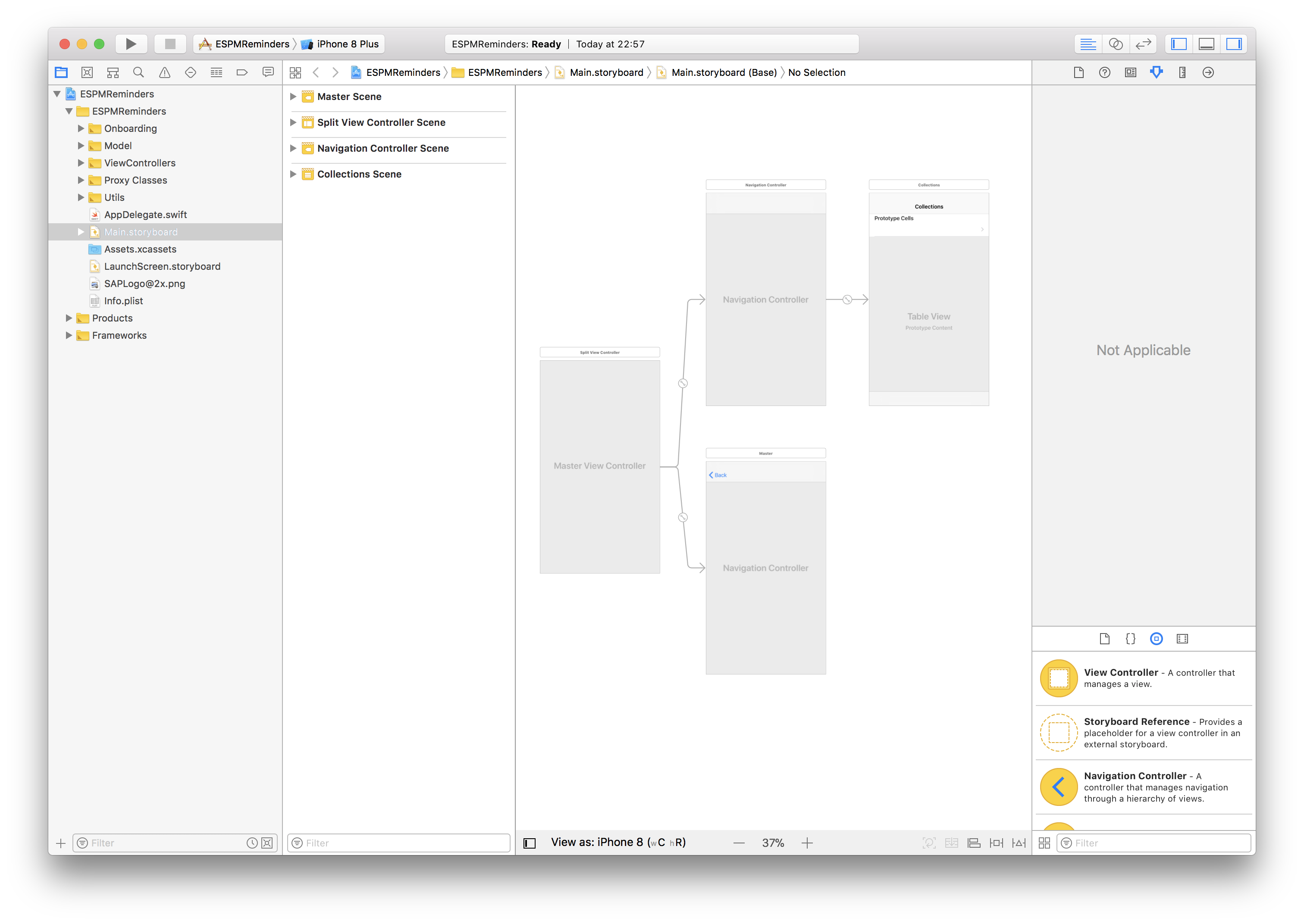 Xcode project overview