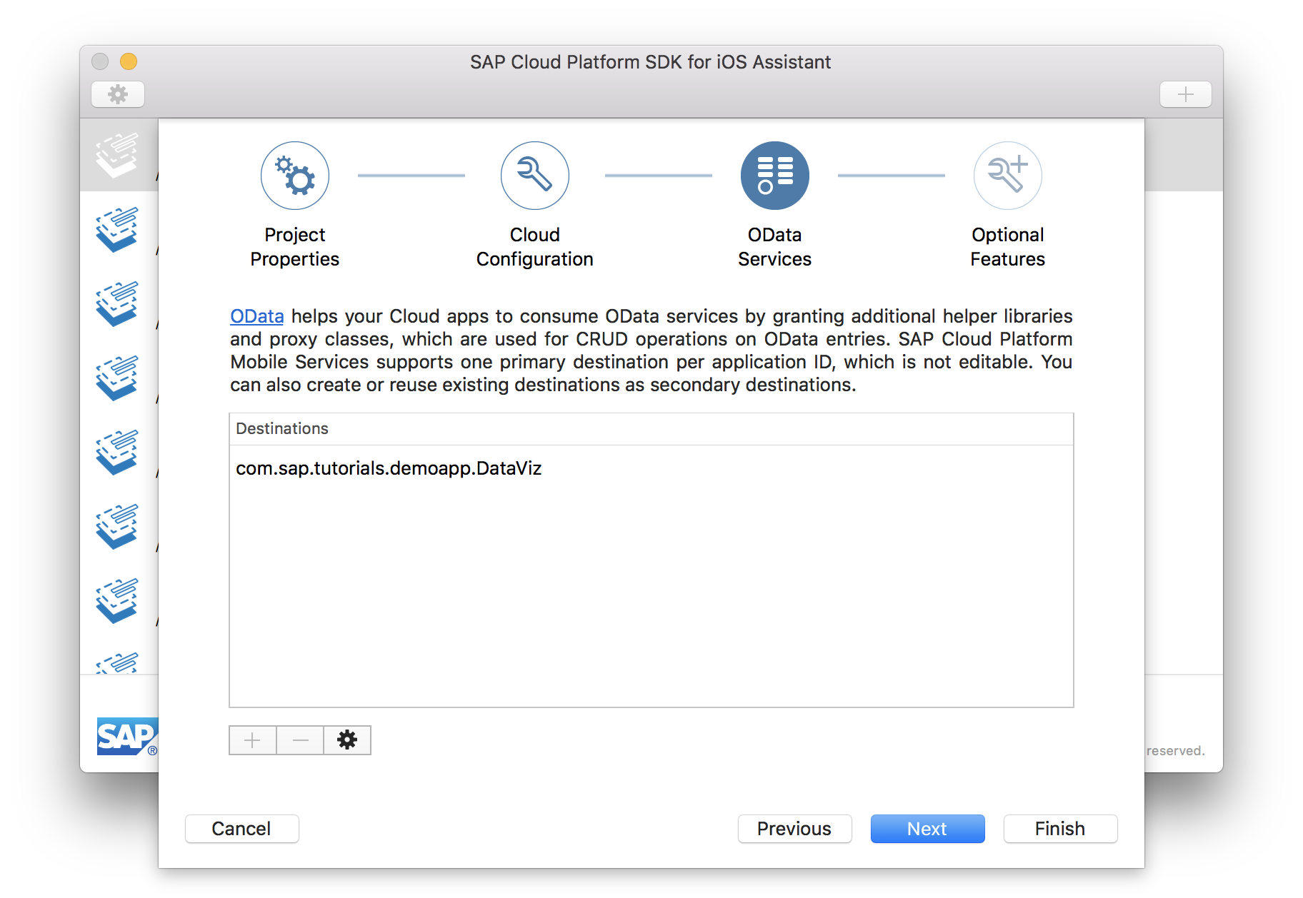 Create Xcode project with SDK Assistant