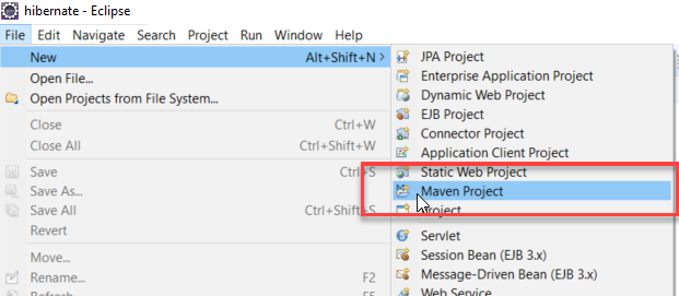 Create a new Maven project