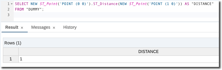 Distance in SRS=0