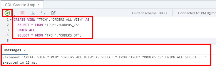 View Data Across Both In-Memory and Dynamic Tiering Tables
