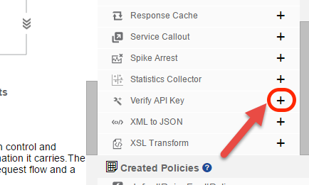 Add Verify API Key policy