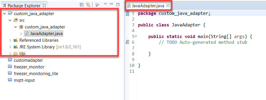 Java Adapter Ready to Develop