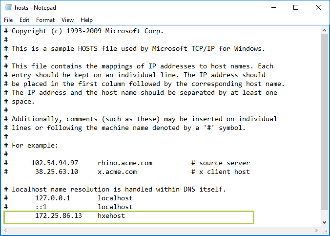 Edit the Hosts File