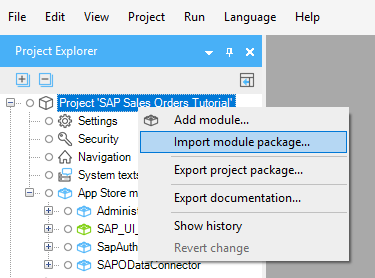 Import module package