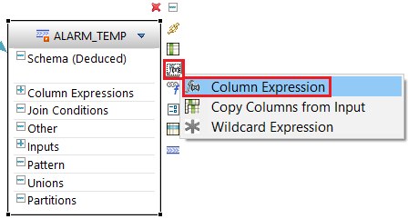 column expression