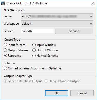 create table ccl