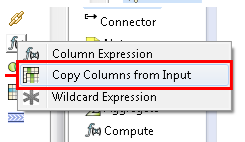 copy columns from input