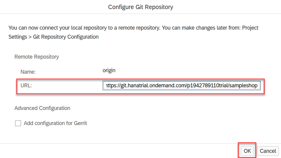 Initialize with remote git URL