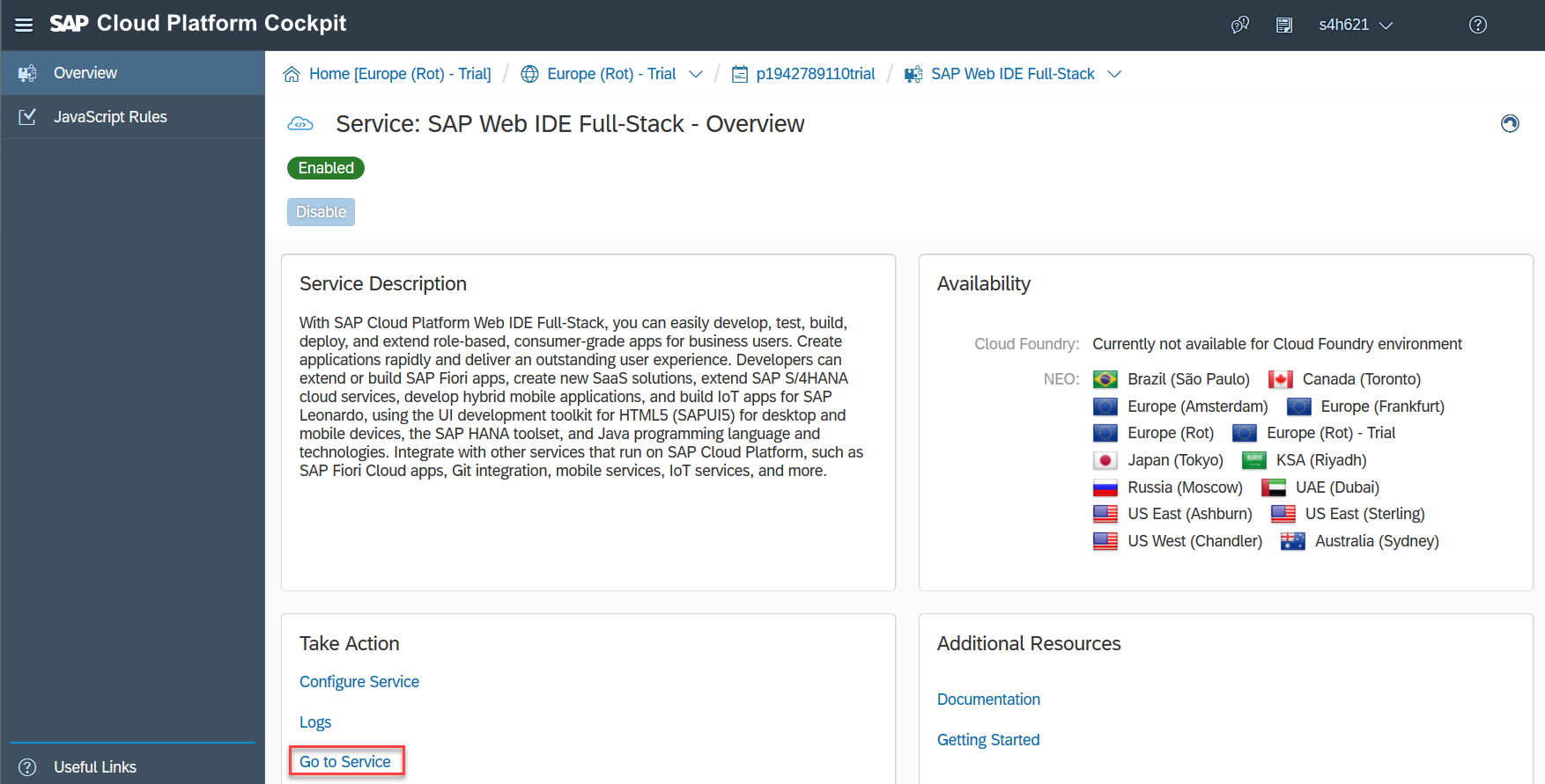 Open SAP Web IDE