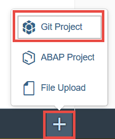 Create Git project