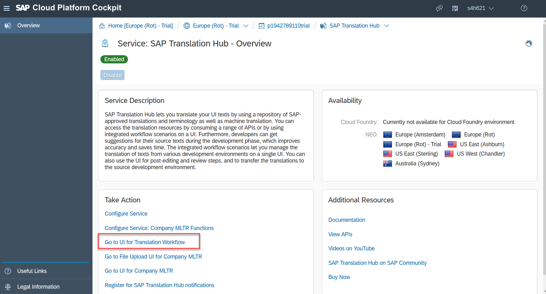 Open SAP Translation Hub