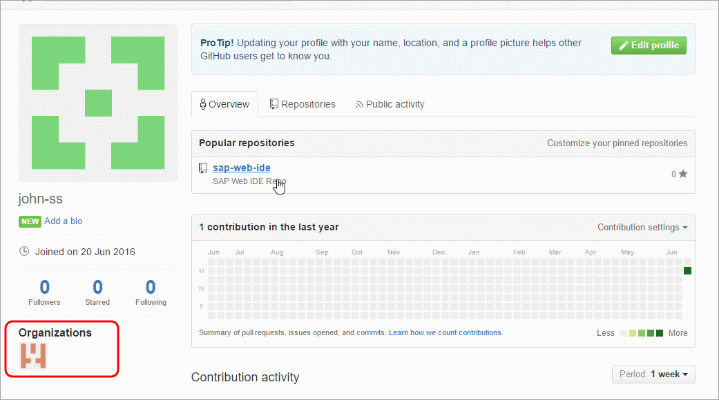 Create a GitHub Organization and Add Collaborators