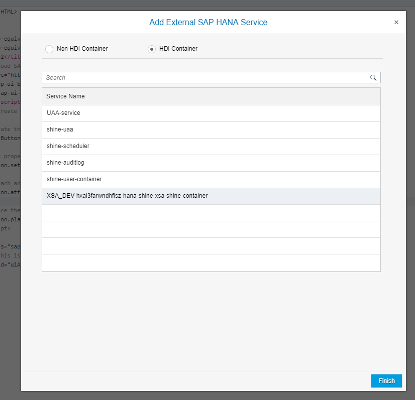 Add external SAP HANA Service