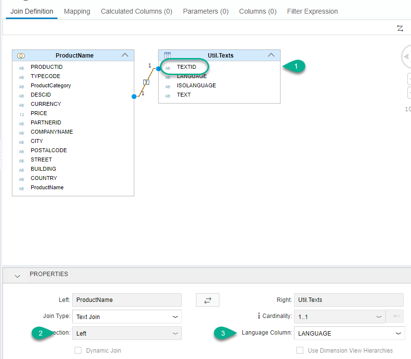 Create a Dimension Graphical Calculation View (XS Advanced)