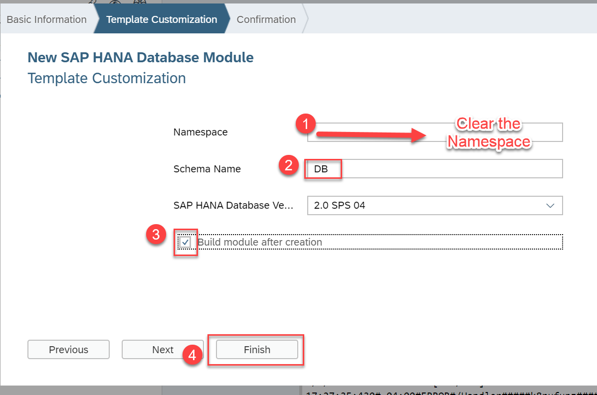 SAP HANA XS Advanced, Creating an HDI Module