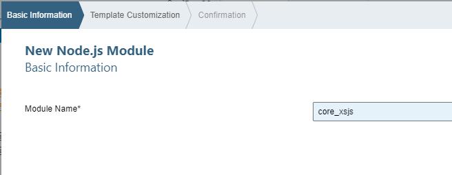SAP HANA XS Advanced, Creating a Node js Module